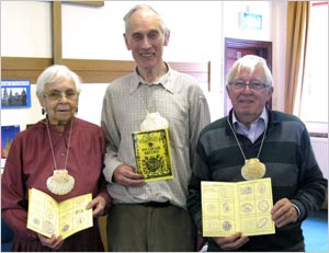 Catherine Widdicombe, Tony Walsh & Ollie Donnelly with their Pilgrim Passports
